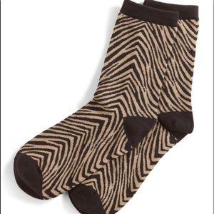Vera Bradley Zebra Foxy Socks